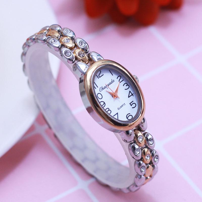 2018 women office ladies diamond Hand catenary quartz College students girlfriend holiday gift rose gold fashion bracelet watch