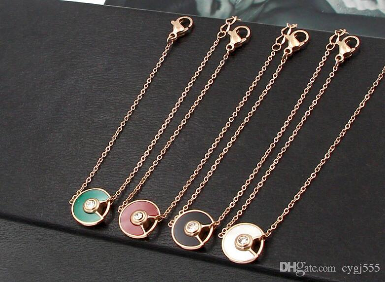 New UFO fan-shaped half-color bracelet bracelet female Japanese and Korean fashion titanium steel rose-gold bracelet accessories