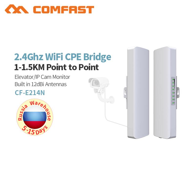 Outdoor Wireless Access Point High Power Ap Wifi Bridge Router Cpe Cf-e214n-v2 Us Plug Computer & Office