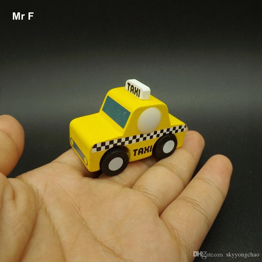 Cadeau Exquis Apprentissage Prop Mini Gadget Voiture Taxi Creative Jouet Bois Jouets Modèle Enseignement En Enfant UVSpqMGz