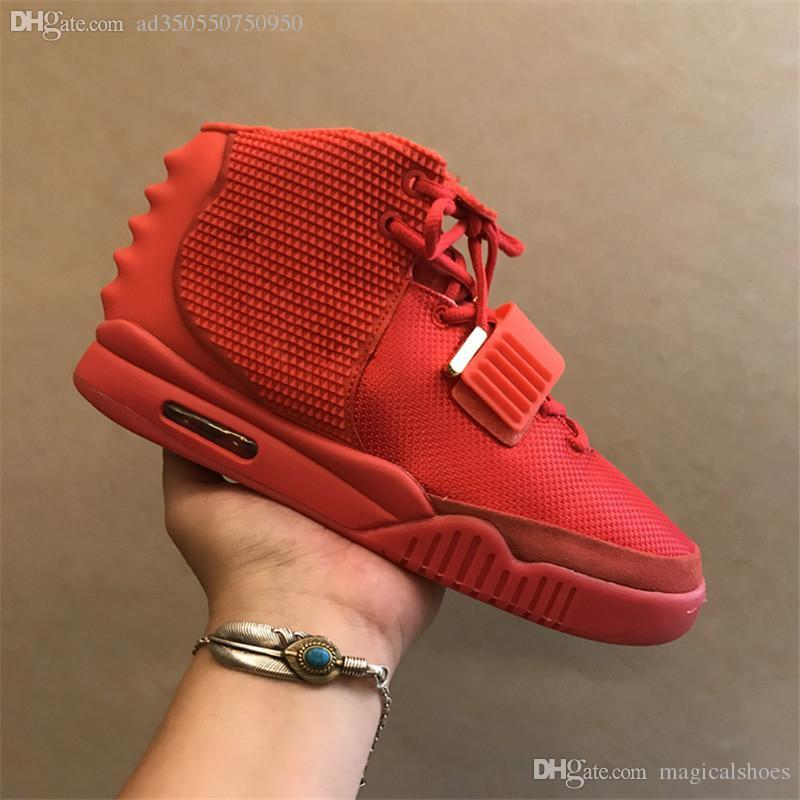 6bb9add79 2 SP NRG Red October Kanye West Basketball Shoes II OCT RED Men With Dust  Bag And Box Athletics Sneakers High Quality 508214 660 US7 13 Sneakers  Online Shaq ...