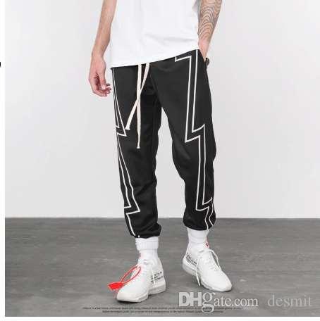 2019 Men Casual Track Pants Fashion Side Stripe Male Hip Hop Pants