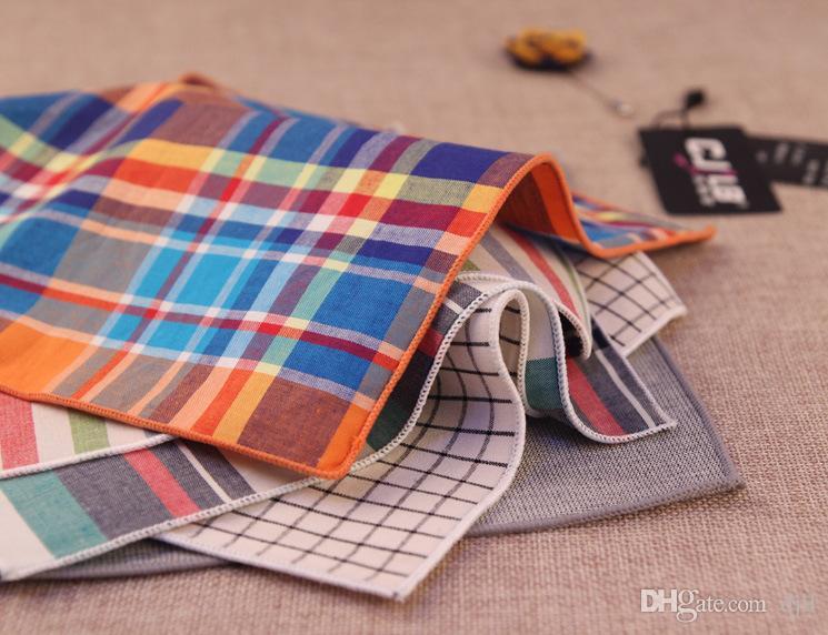 44 Different Design Men's cravat scarf Handkerchiefs Soft Cotton Pocket Square Hankies Men Business Square Pockets Hanky Handkerchief Ties