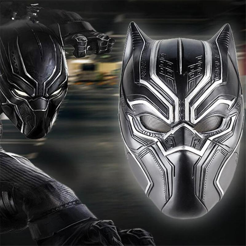 Movie Superhero Black Panther Solid 3d maschere in lattice Halloween Party Costume puntelli Accessori uomo regalo di alta qualità