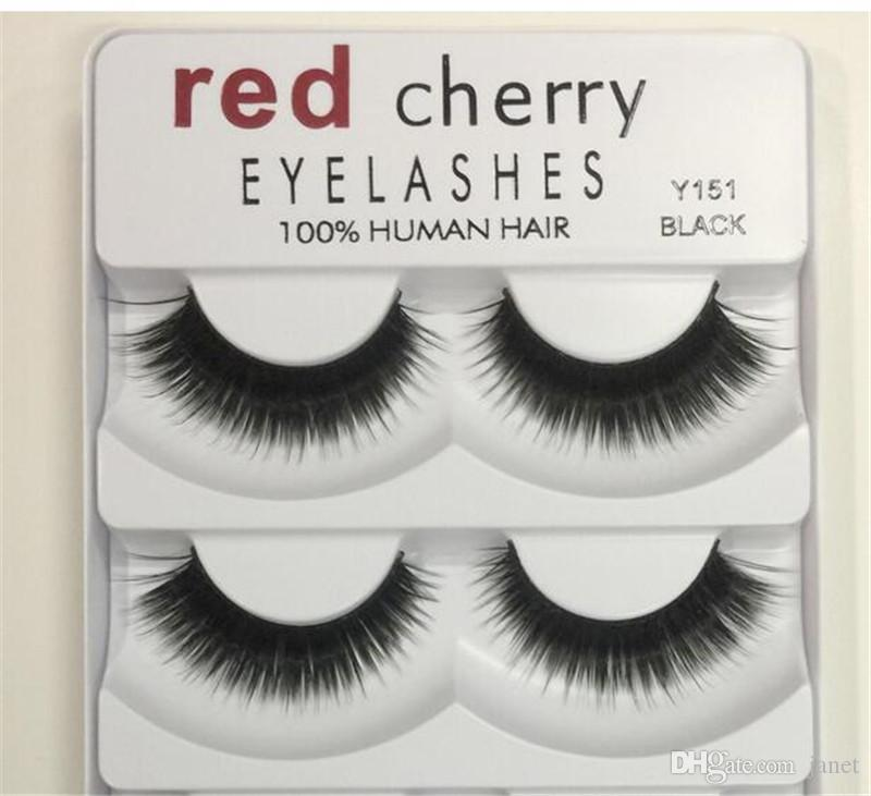 Red Cherry False Eyelashes Pack 8 Styles Natural Long Professional