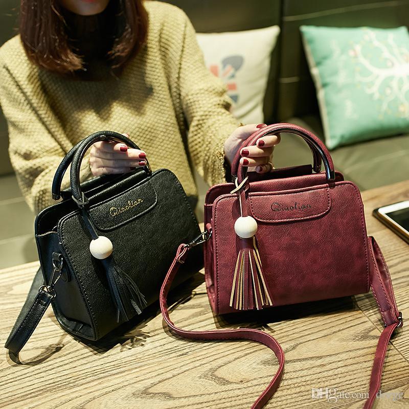 La nuova borsa da donna oblique di grande capacità delle donne della moda con la tendenza di semplice e semplice borsa a tracolla retrò