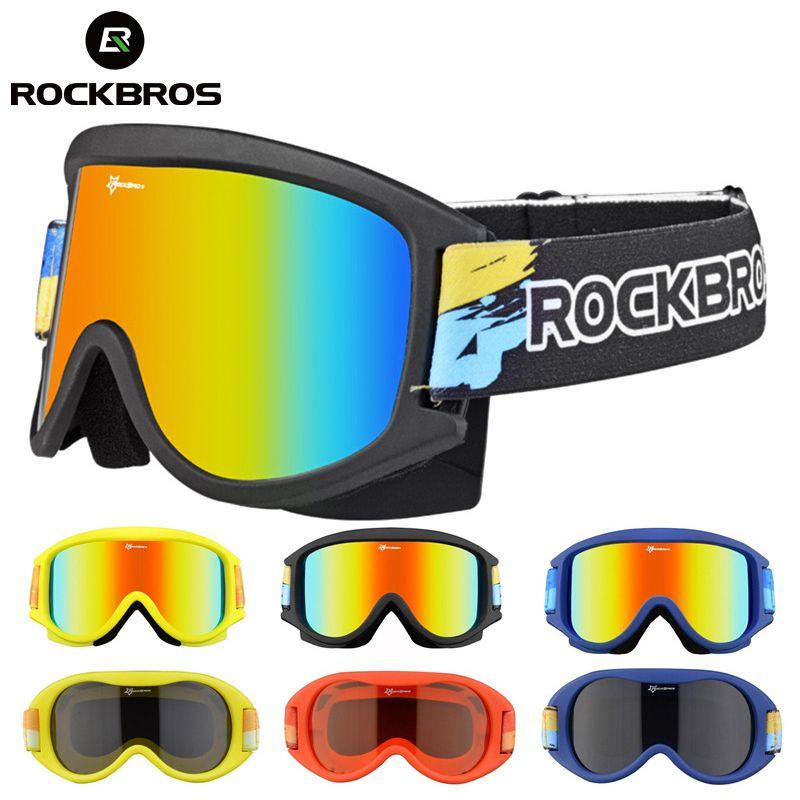 5923e324372 Compre ROCKBROS Gafas De Esquí Gafas Esquí Para La Nieve Gafas De Doble  Capa Snowboard Lentes Antiniebla Para PC Gafas Con Montura UV De TPU  Hombres Mujeres ...