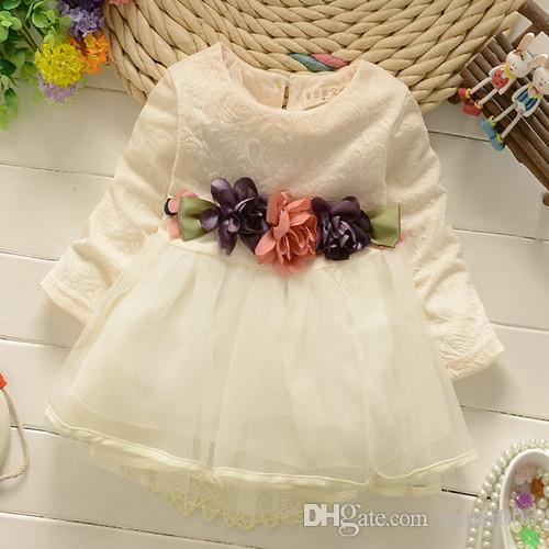 ed412255c821 2019 2018 Winter Newborn Fancy Infant Baby Dresses Girl Frocks Designs  Party Wedding With Long Sleeves Jacadi 1 Year Birthday Dresses From  Super003, ...