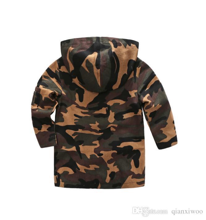 New Spring Autumn Baby Boys Coat Kids Hooded Camouflage Jacket Children Boy Outwear Coats W102