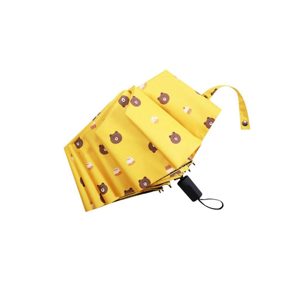 bb4b90bb10b13 2019 Mini Pocket Rain Umbrella Women Girls Umbrella Bear 8K Five Folding  Black Coating Portable Cute Small From Sheiler, $21.99 | DHgate.Com