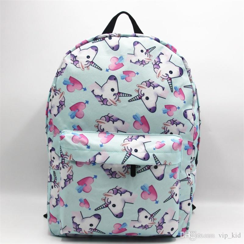 9c6fd00261 8 Styles Unicorn Emoji Small Backpack Women 3D Printing Travel Softback Men  Mochila Drawstring Bag School Girls Backpacks Sac External Frame Backpacks  Cheap ...