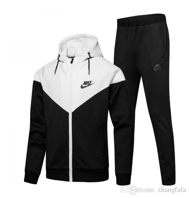 huge discount 91c84 54cca NIKE fashion 2018 men s tracksuit men sport suit white cheap men sweatshirt  and pant suit hoodie and pant set sweatsuit men 954-3083
