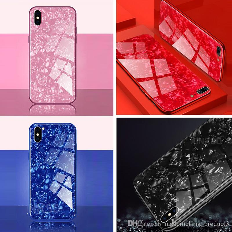 467366177d5 Luxury Tempered Glass Case For IPhone X 6 8 Case Explosion Proof Marble  Pattern Hard Back Cover For IPhone 7 8 Plus X Case Protective Cell Phone  Cases Reiko ...