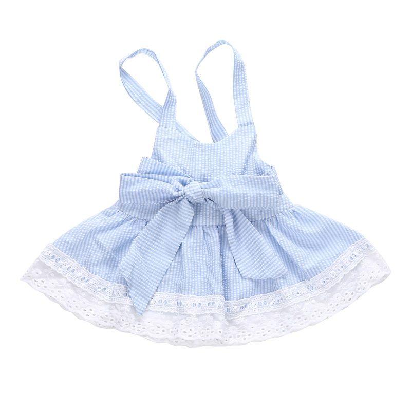 363995752 2019 Summer Baby Girls Dress Cute Blue Striped Dresses Kids Girl Princess  Bowknot Dress 0 24 Monts From Friendhi, $35.22 | DHgate.Com