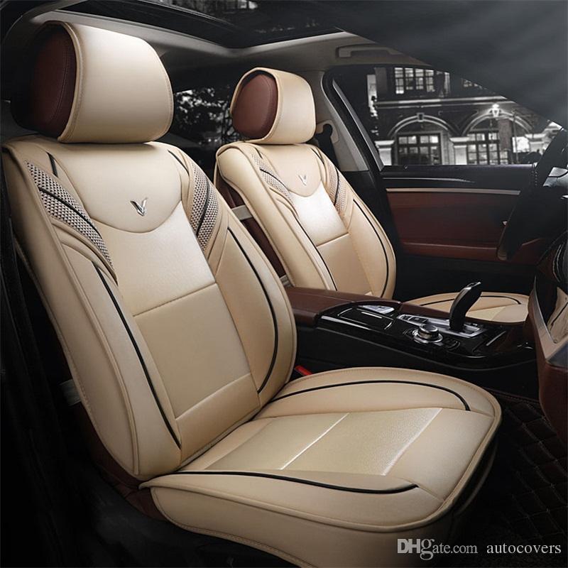 Accesorios para automóviles universales Cubiertas de asientos de automóviles interiores para sedán Diseño envolvente completo Durable PU Cubiertas de asientos de cuero para SUV