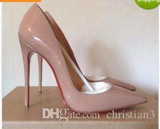 40ba68606c94 So Kate Styles 8cm 10cm 12cm High Heels Shoes Red Bottom Nude Color Genuine  Leather Point Toe Pumps Rubber 002 Brown Shoes Strappy Heels From  Christian3
