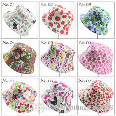 Children Bucket Hat Casual Flower Sun Printed Basin Canvas Topee Kids Hats  Baby Beanie Caps Tilley Hat Pillbox Hat From Wulingling9988 de001c50120e