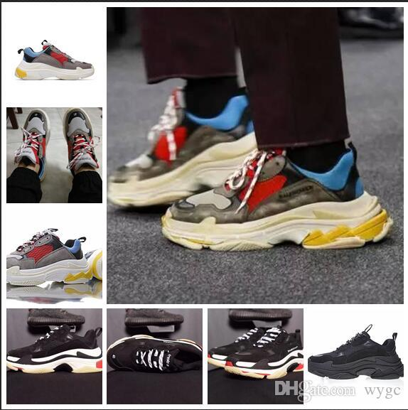 d75df48b5 Newest BL Triple S 17FW Sneakers For Men Women Running Shoes Vintage Kanye  West Old Grandpa Trainer Sneaker Fashion Shoe Outdoor Boots Men Shoes On  Sale ...