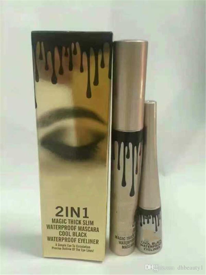 kylie jenner kyliner 2 in 1 mascara set eyeliner birthday edition Black color dhl ship