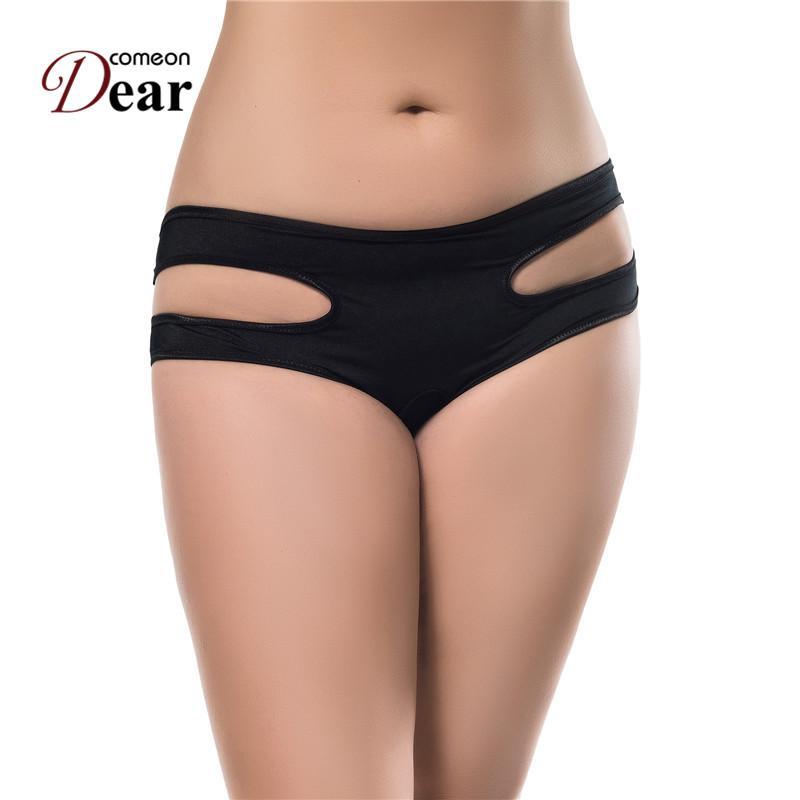 PJ5016 Comeondear Yeni Seksi Kadınlar Erotik Lingerie Sıcak 8 Renkler Kadınlar Için Erotik Cut Out Açık Crotch Kadın Külot Yeni Artı Boyutu
