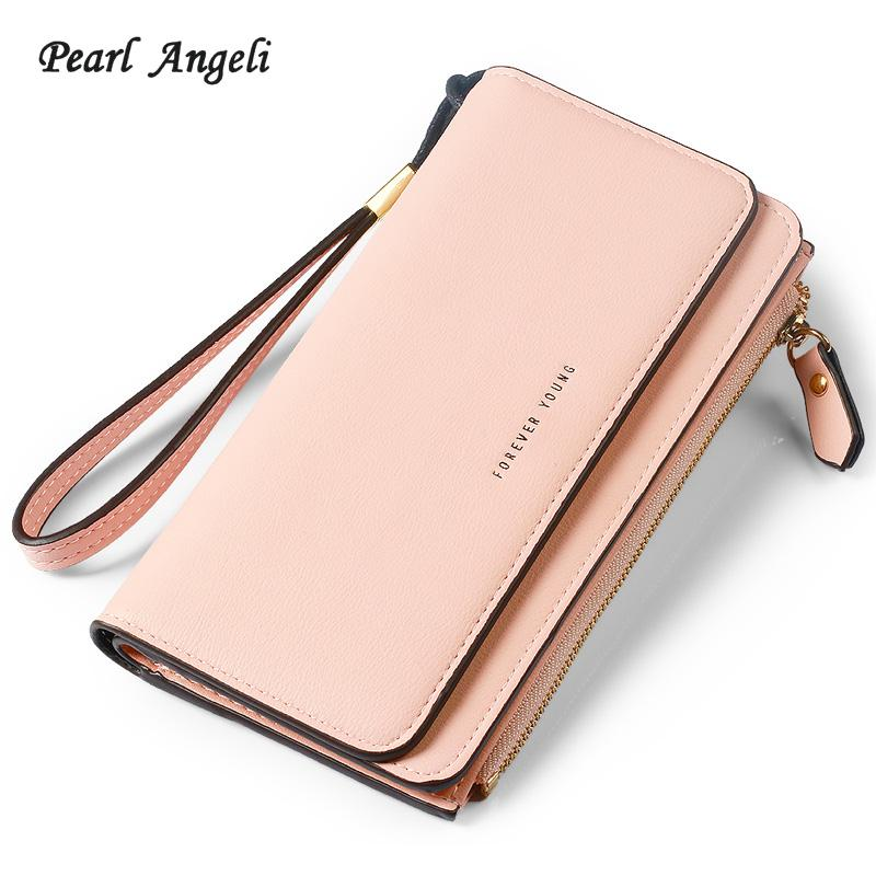 Pearl Angeli Long Style Women Purse PU Leather Wallet Female Zipper Pouch  Large Capacity Clutch Women Wallet Carteira Feminina Womens Credit Card  Wallet ... 72bc07d5f322