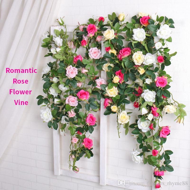 2018 christmas decorations artificial flowers vine flower wall silk 2018 christmas decorations artificial flowers vine flower wall silk flowers wreath garland home party wedding decoration fake flores rose rattan from mightylinksfo