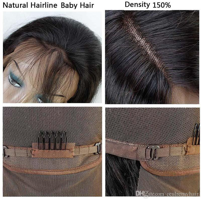 Body Wave Full Lace Human Hair Wigs For Black Women Pre Plucked 150% Density Brazilian Virgin Human Hair Wigs With Baby Hair