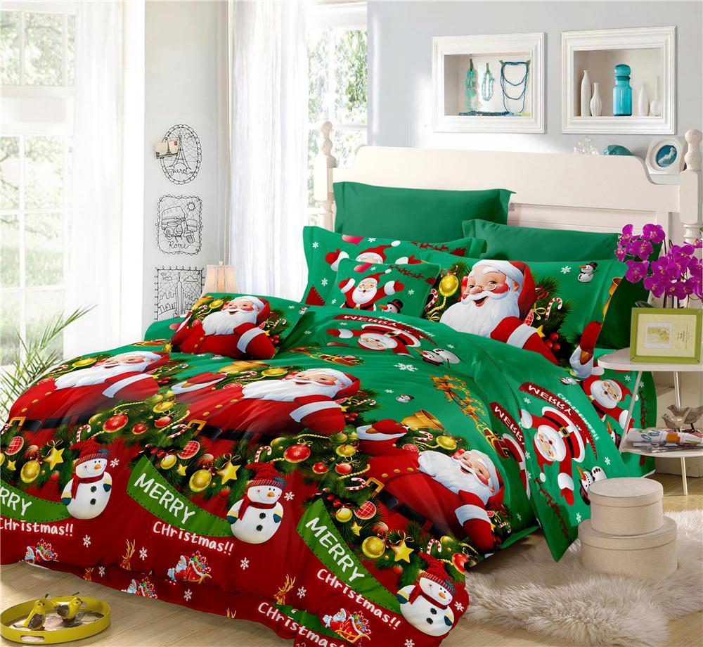 Großhandel Winter Schlaf Bettwäsche Set Frohe Weihnachten Bettbezug
