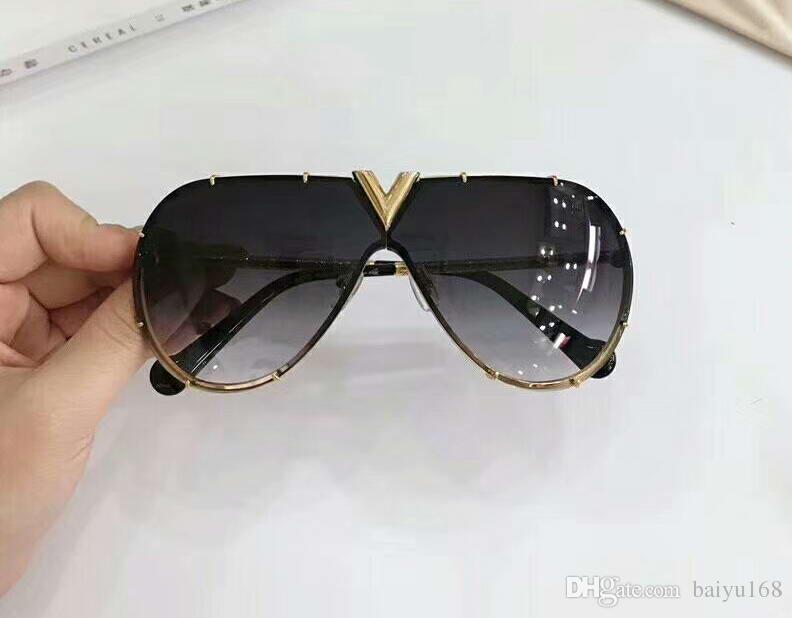 Großhandel Coole Männer Flieger Sonnenbrille Gold / Grau Steigungs ...