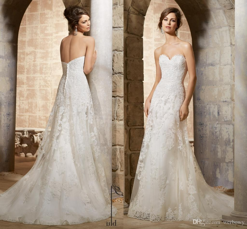 7e42477c2cb Exquisite Lace Appliques Beads Sequin Mermaid Wedding Dresses Custom Made  Plus Size Sweetheart Sweep Train Tulle Bridal Gowns HY4202 Cheap Lace  Wedding ...