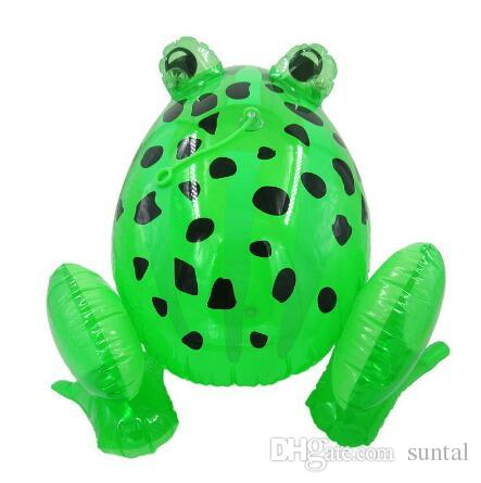 LED inflatable kids toy inflatable animal frog outdoor baby swim pool toy 28x29x36cm sizes big pvc material kids toys