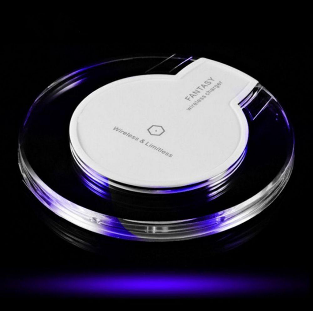 IPhone X 8 için artı Kablosuz Şarj Evrensel Qi Kablosuz Şarj Samsung S6 S7 için Taşınabilir Mini Hızlı Şarj