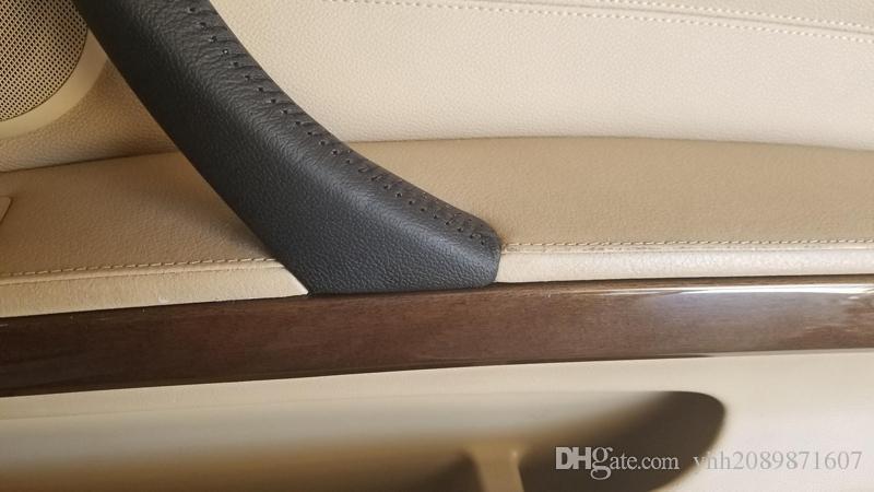tampa interna do punho de porta do carro do microfiber tampa do punho de porta interna do carro para a série de BMW 3 e90 318 320 325 330 335