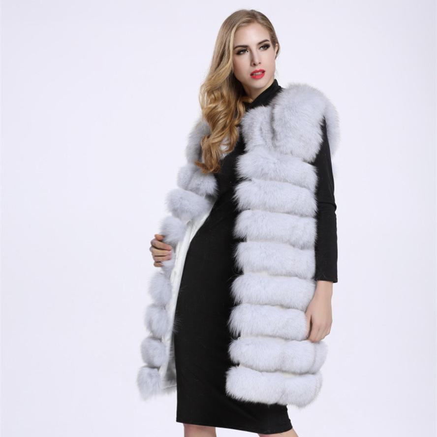 Compre Mujeres De Año Nuevo Chaleco De Piel Sintética Abrigo Largo Sin  Mangas Cálido Invierno Outwear A  84.66 Del Qingxin13  28aa40f37a2