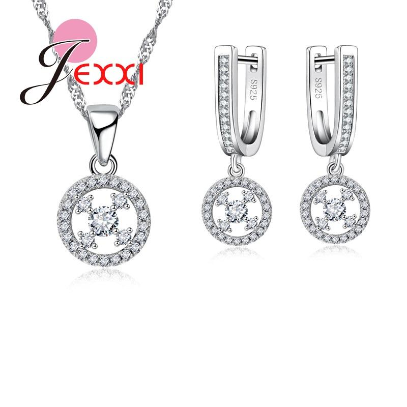 925 Jewelry Silver Plated Jewelry Set,cheap Bridal Party Sets,simple 8 Letter Fashion Silver Necklace Earring Ring Three-piece Jewelry Sets