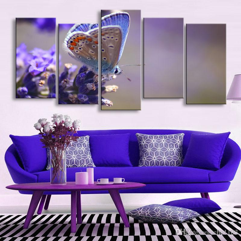 high-definition print butterfly canvas painting poster and wall art living room picture B-088