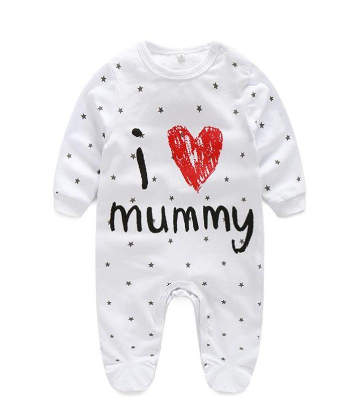 5ab1706a2431 Newborn Baby Bodysuit Girl Clothes Baby Girl Boy Romper Cotton Long ...