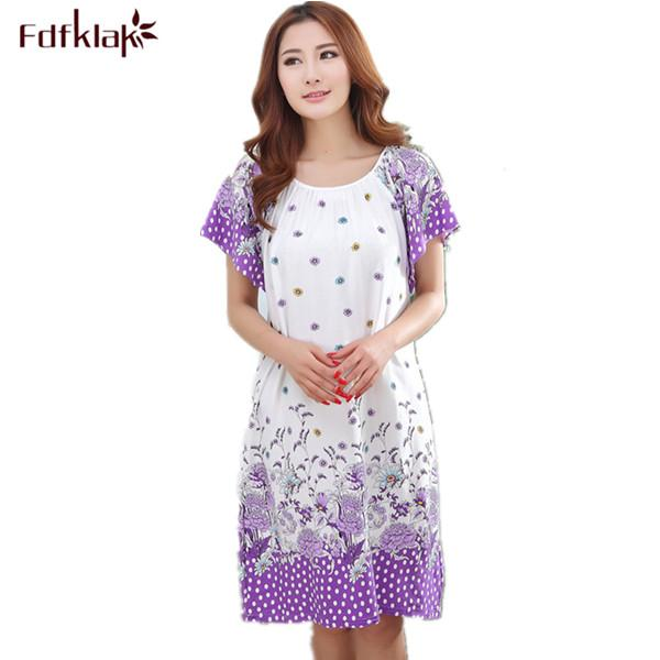 2018 Wholesale Plus Size Nightgowns For Women 2017 Summer Dressing ...