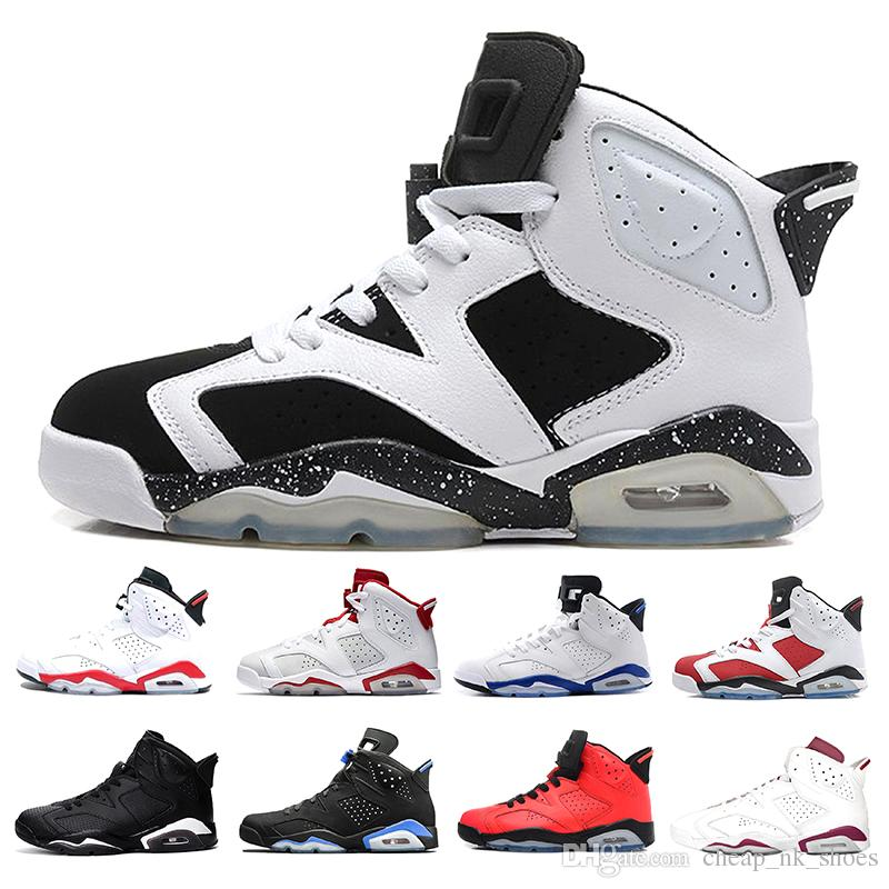 a0403aaeaf3144 Cheap 6 Men Basketball Shoes 6s Unc Black Cat Sport Blue Infrared White  Maroon Alternate Red Oreo Athletics Trainer Shoes Sneakers Us 8 13 Shoe  Shops Cheap ...