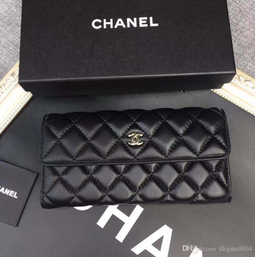 69cb931da800 Fashion Long Style Designer Clutch Women Purse Brand Wallet Lambskin ...