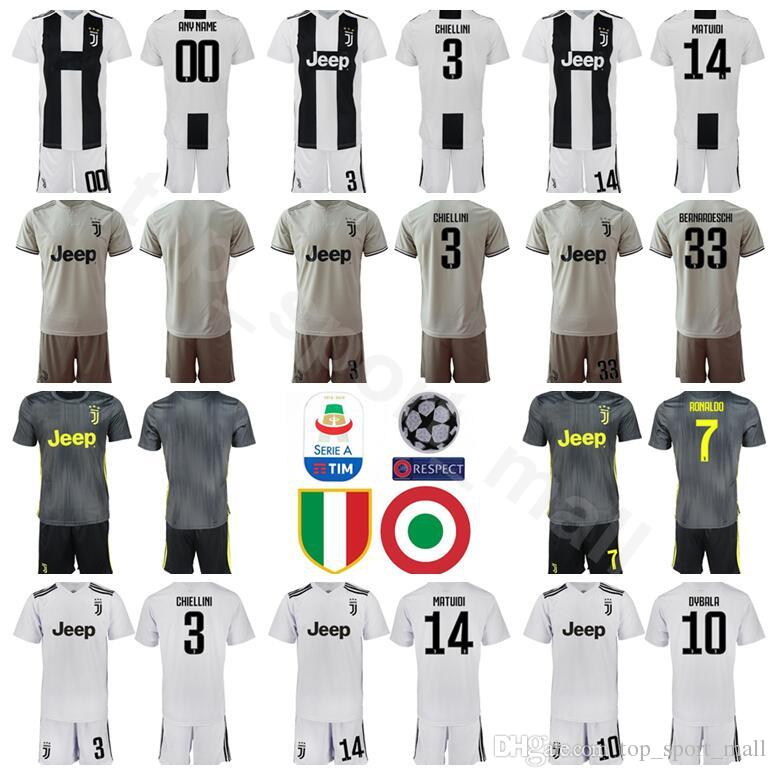 0f6f186e9 2019 2018 2019 FC Juventus Soccer 19 Leonardo Bonucci Jersey Set Men Serie A  3 Giorgio Chiellini 14 Blaise Matuidi Football Shirt Kits Uniform From ...