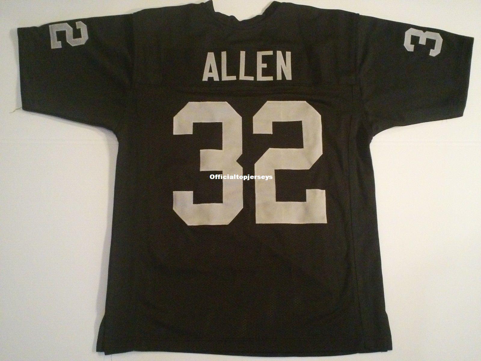 2019 Cheap Retro Custom Sewn Stitched #32 Marcus Allen Black  free shipping