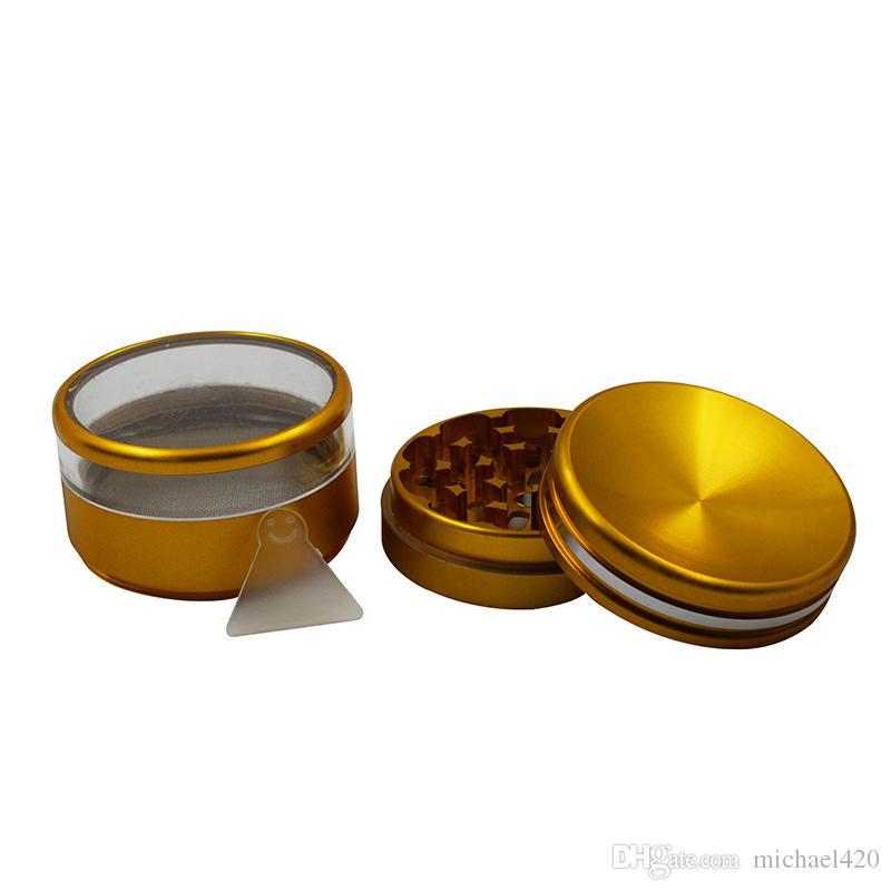 특별하게 절묘하게 포장 된 프리미엄 품질의 독특한 스타일의 금속 광택기 담배 분쇄기 향료 담배 담배 연삭 도구