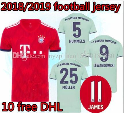 new product 6b667 9b8bb 18 19 Bayern Munich Soccer jersey james 2018 2019 KIMMICH VIDAL LEWANDOWSKI  MULLER TOLISSO HUMMELS Kimmich football shirts
