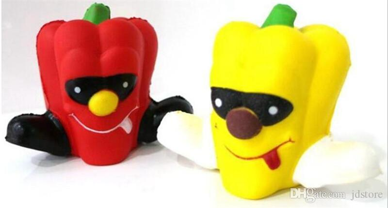 Jumbo Pepper Squishy Toys Kawaii Vegetable Slow Rising Squeeze Stress Reliever Kids Gift Simulation Cake