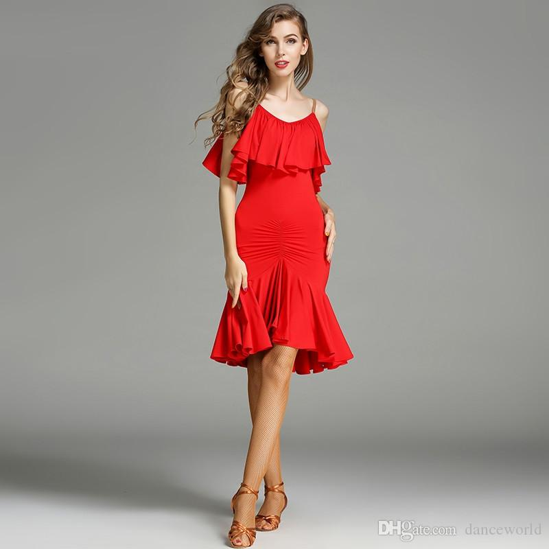 2019 Red Latin Dance Dress Fringe Women Latin Dancing Clothes Dancewear  Dress Latina Salsa Dress Latin Dance Costumes For Women From Danceworld a69b4dce9