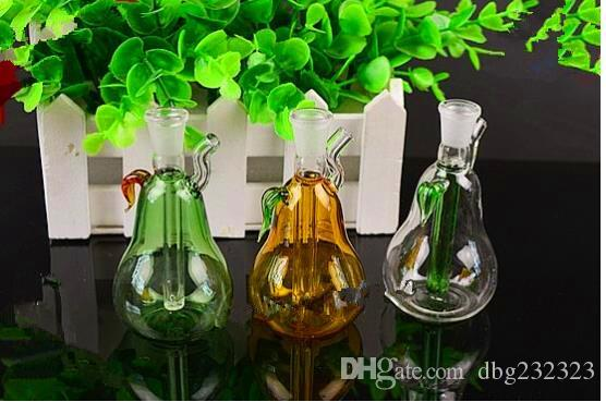 Mini pera narguile Venta al por mayor Bongs de vidrio Quemador de aceite Pipas de agua de vidrio Fábricas de aceite Fumadores, aceite.
