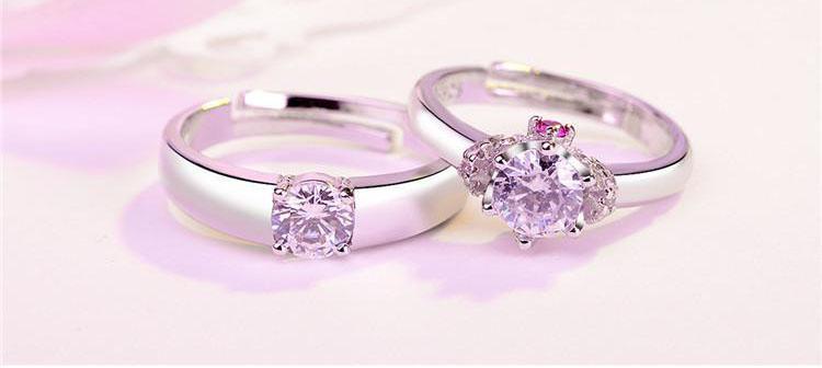 Europe et Amérique du mode de luxe anneau Couples des amoureux Anneaux pour amateurs / hommes et femmes paire engagement meilleur cadeau anneau de mariage pour un ami
