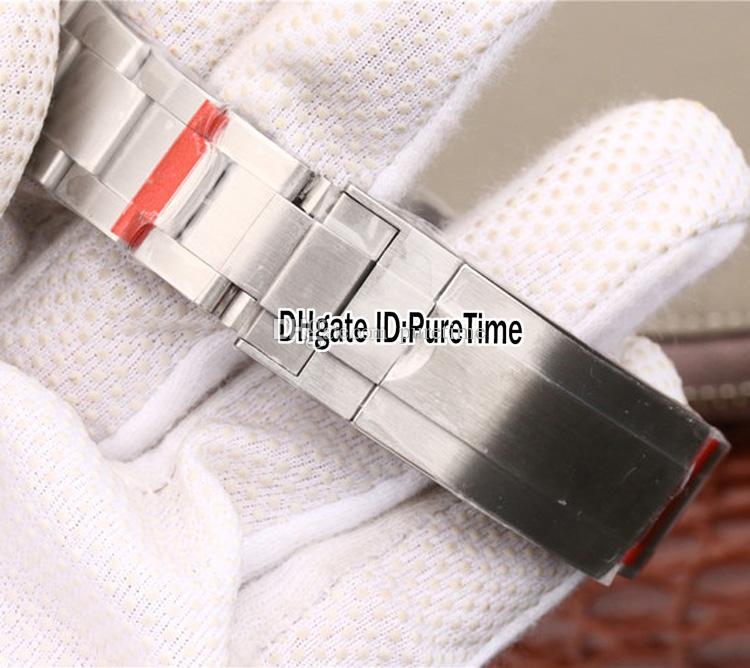 Novo n V9 Melhor Edição suíço Cal.3135 ETA 3135 Automatic Movimento Negro Cerâmica moldura Black Dial Mens Watch azul luminoso 904L Aço Rx5a1