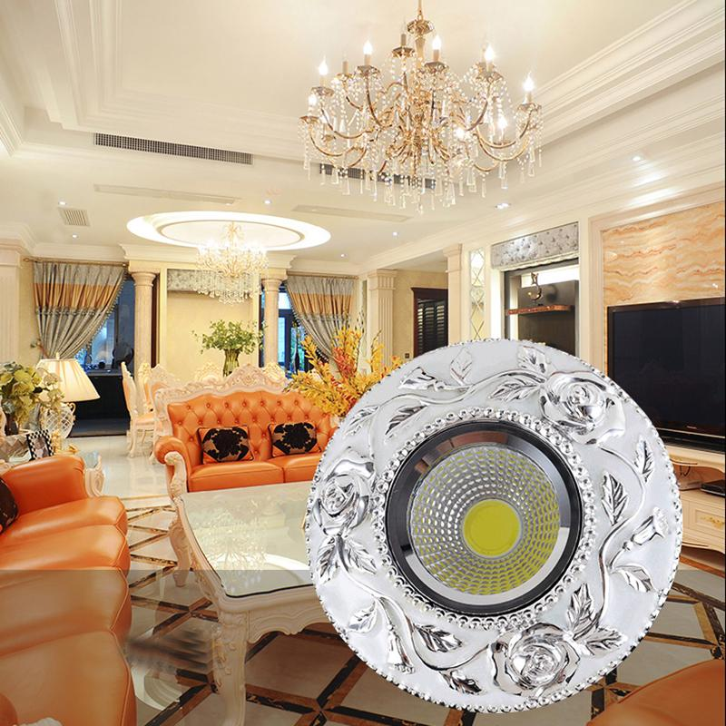 4 pçs / lote LED 5 W Downlights Embutida Lâmpadas Spot Teto COB Regulável Para Baixo Luzes 110 V 220 V DriverIncluído substituição para halogênio